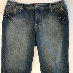 Plus Size Baby Phat Denim Cropped Jeans